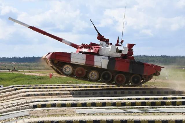 Xe tăng T-80 của đội quân Nga trong