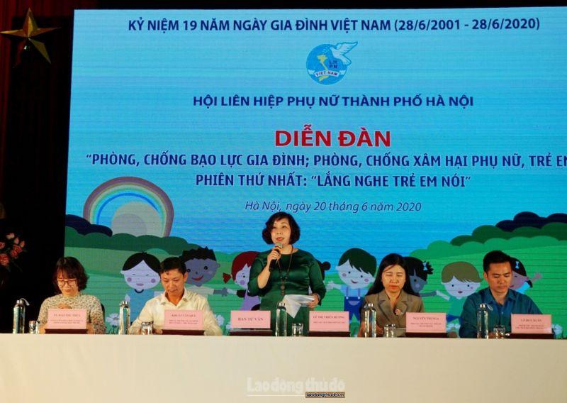 Hội LHPN TP Hà Nội tổ chức diễn đàn phòng, chống bạo lực gia đình, phòng chống xâm hại phụ nữ, trẻ em