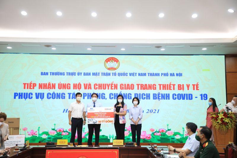 MTTQ Thành phố Hà Nội tiếp nhận những tấm lòng hảo tâm của các doanh nghiệp