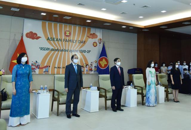 Các đại biểu tham dự Ngày gia đình ASEAN 2021.