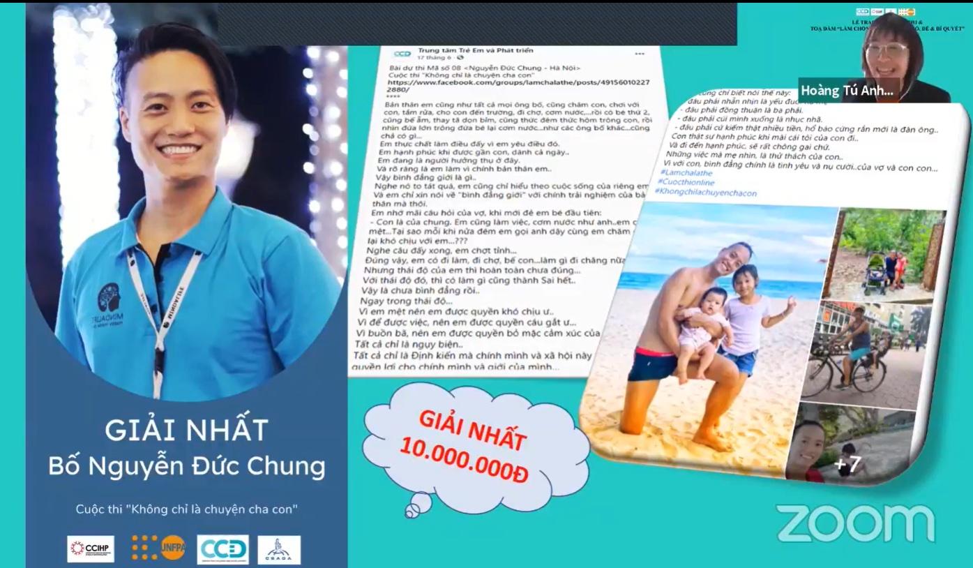 Ông bố Nguyễn Văn Chung, Hà Nội đạt giải Nhất cuộc thi với bài viết xúc động nhất