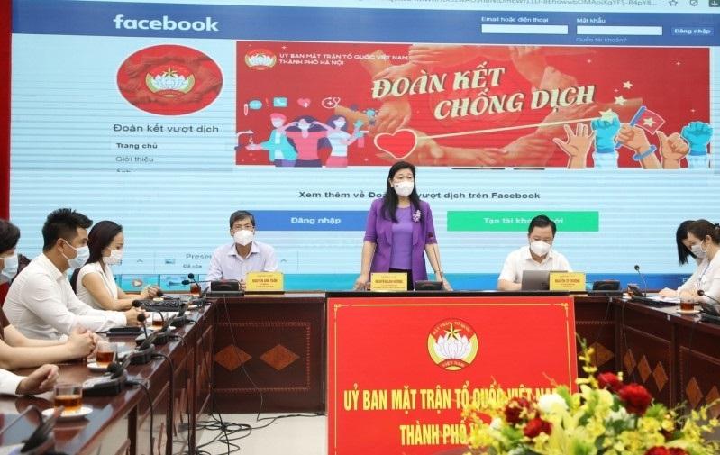 Đồng chí Nguyễn Lan Hương - Chủ tịch Ủy ban Mặt trận Tổ quốc Việt Nam thành phố Hà Nội