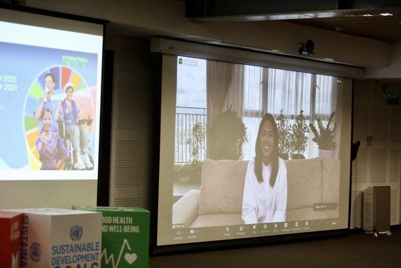 Hoa hậu ... tham dự Lễ kỷ niệm trực tuyến cùng thanh niên cả nước