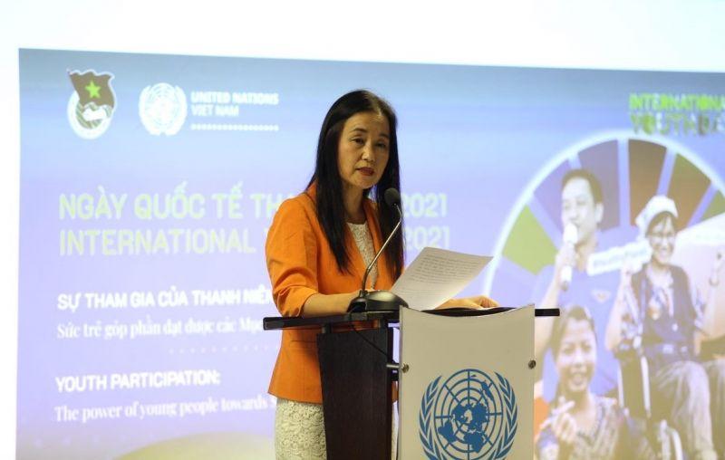 Bà Naomi Kitahara, Trưởng đại diện Quỹ Dân số Liên Hợp Quốc tại Việt Nam, Trưởng nhóm Hành động vì Vị Thanh Niên và Thanh niên Việt Nam của Liên Hợp Quốc tại Việt Nam