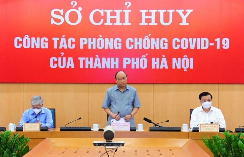 Chủ tịch nước Nguyễn Xuân Phúc phát biểu chỉ đạo tại buổi làm việc.
