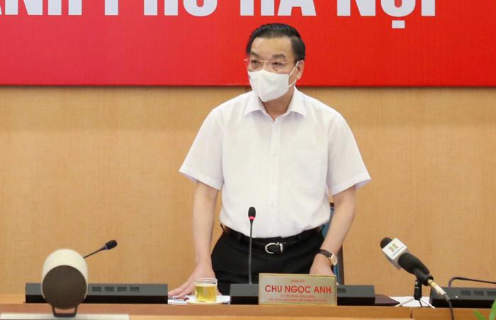 Phó Bí thư Thành ủy, Chủ tịch UBND Thành phố Hà Nội Chu Ngọc Anh phát biểu tại