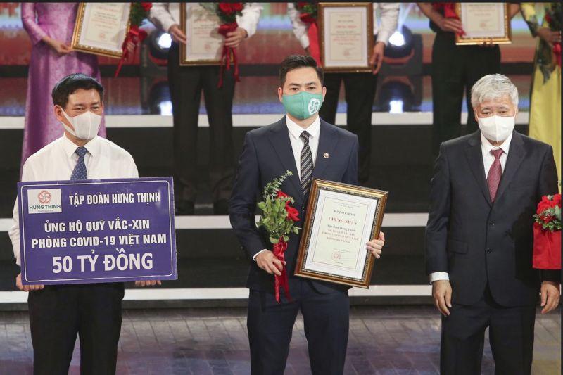 Tập đoàn Hưng Thịnh đóng góp 50 tỷ đồng vào Quỹ vắc-xin phòng chống Covid-19 của Chính phủ