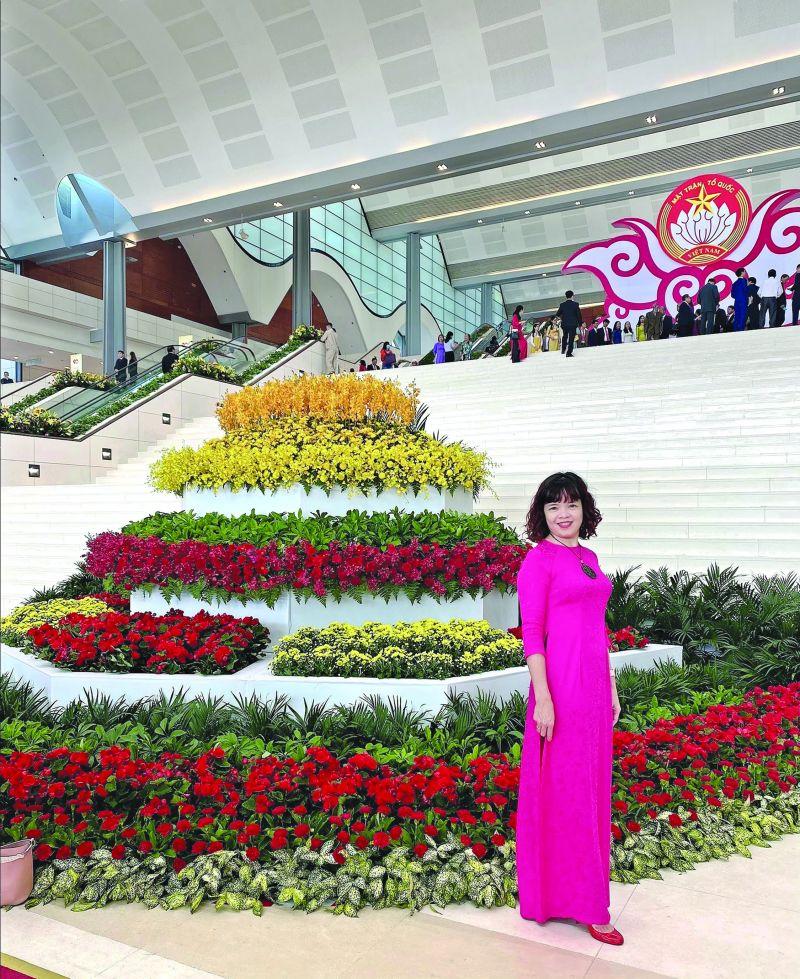 Chị Lê Thanh Hương (Cán bộ Ban Hành Chính trị sự)