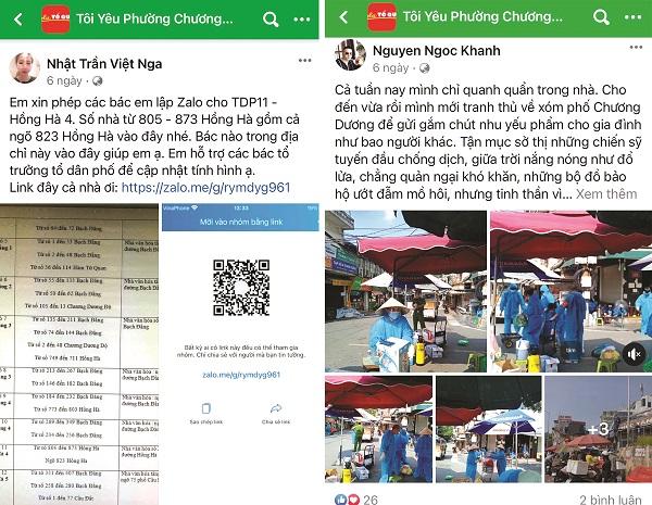 """Những hình ảnh, việc làm đẹp được chia sẻ trên trang facebook """"Tôi yêu phường Chương Dương"""" quận Hoàn Kiếm"""