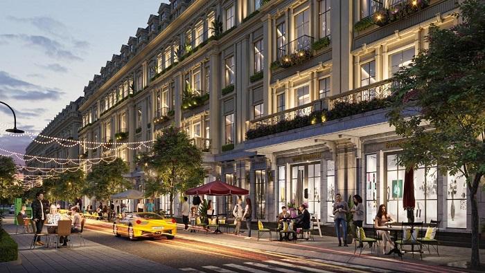 Chuỗi shophouse tạo nên những con phố mua sắm náo nhiệt ngay bên trong dự án