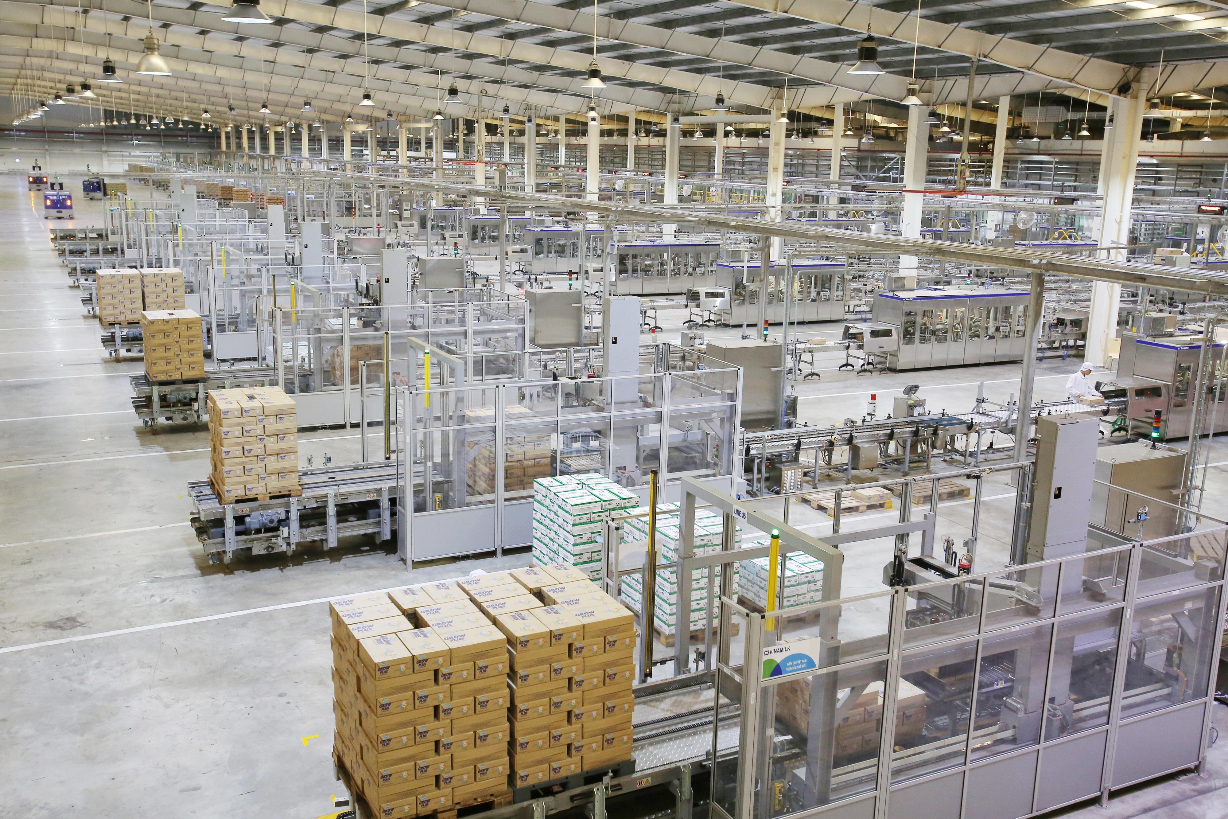Dây chuyền sản xuất hiện đại, khép kín tại các nhà máy của Vinamilk