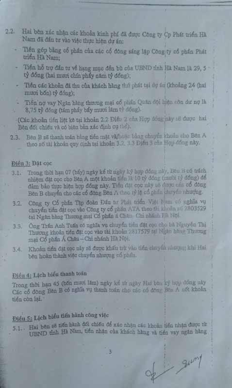 """Ông Phạm Văn Ảnh khẳng định """"bên B"""" không thanh toán đủ tiền cho """"bên A"""", số tiền chưa trả là 337.000.000 VNĐ, và cố tình không thực hiện quy định tại (Điều 2,4,5,11,12 và Điều 7 về quyền và nghĩa vụ của """"bên B"""" đã quy định tại của Hợp đồng 01)"""