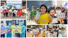 Vinamilk thực hiện nhiều chương trình hướng đến trẻ em như Quỹ sữa Vươn cao Việt Nam, chăm sóc dinh dưỡng trẻ em trong đại dịch…