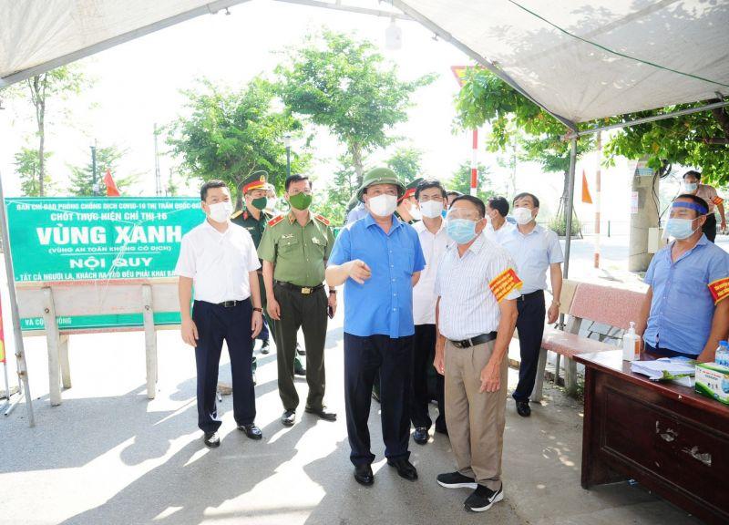 Bí thư Thành ủy ghi nhận và biểu dương huyện Quốc Oai 30 ngày qua không phát sinh ca bệnh mới