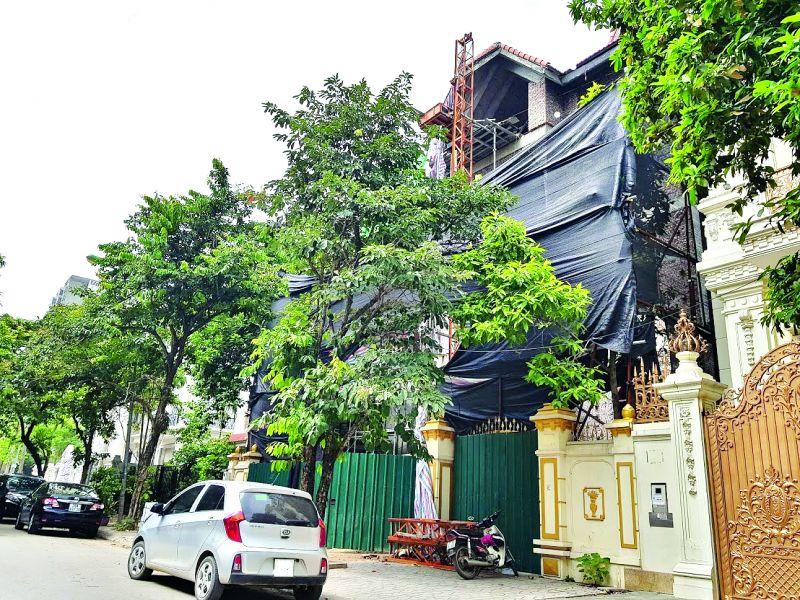 Công trình số 9 nhà B, khu biệt thự 5,2ha, phường Yên Hòa, quận Cầu Giấy