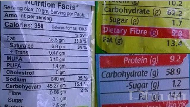 Xem kỹ ngoài vỏ gói/ly mì bạn có thể biết được thành phần và hàm lượng dinh dưỡng trong đó.