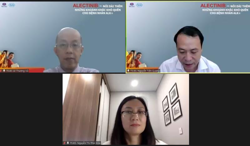 Các chuyên gia thảo luận trực tuyến về phương pháp điều trị ung thư phổi.