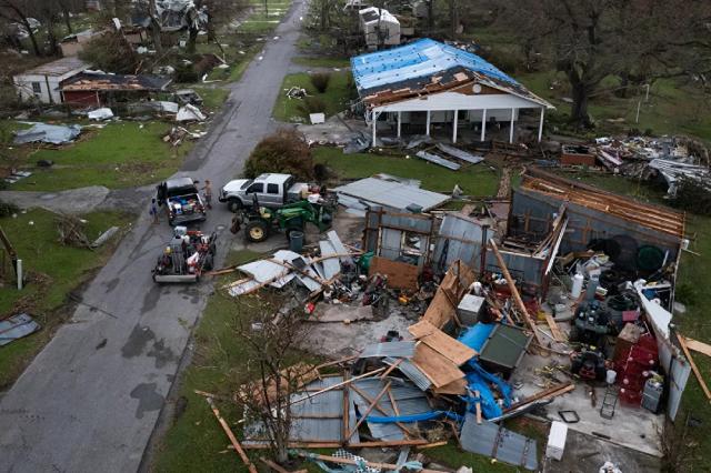 Những ngôi nhà bị tàn phá sau cơn bão Ida ở bang Louisiana, Mỹ.