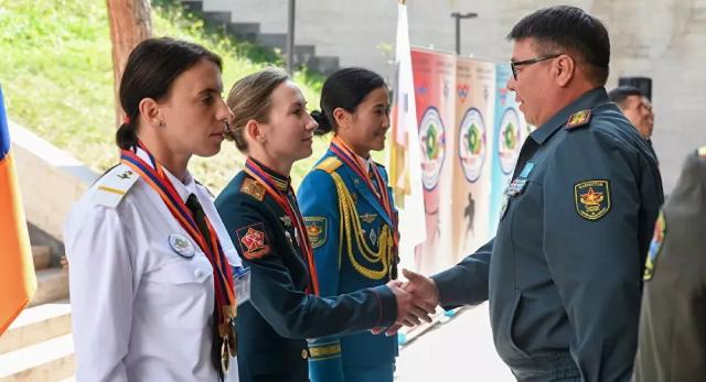 Lễ tổng kết cuộc thi quốc tế Chiến sĩ hòa bình trong khuôn khổ Army Games-2021 tại Armenia.