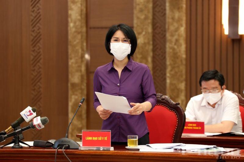 Giám đốc Sở Y tế Hà Nội Trần Thị Nhị Hà phát biểu tại cuộc họp báo chiều ngày 3/9.