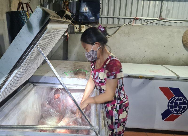 Cơ sở kinh doanh bà Nguyễn Thị Loan chứa số lượng lớn thịt nhiễm virus bệnh dịch tả lợn châu Phi