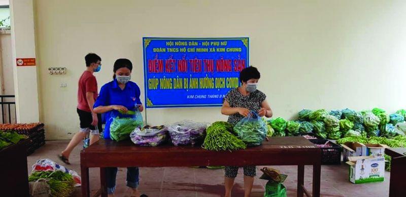 Điểm bán hàng bình ổn giá tại xã Kim Chung, huyện Hoài Đức