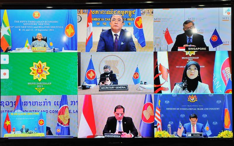 Các Bộ trưởng tham gia hội nghị trực tuyến