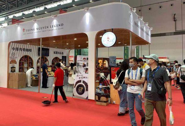 Gian hàng cà phê Trung Nguyên tại CAEXPO 2021