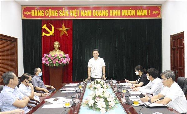 Đồng chí Lê Anh Quân, Bí thư Huyện uỷ, Chủ tịch UBND huyện Gia Lâm phát biểu chỉ đạo tại Hội nghị