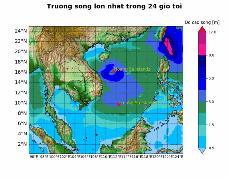 Cơn bão số 5 đang hướng vào biển Quảng Trị