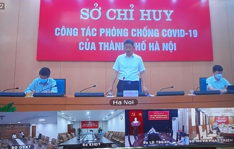 Phó Chủ tịch UBND Nguyễn Mạnh Quyền  chỉ đạo tại cuộc họp