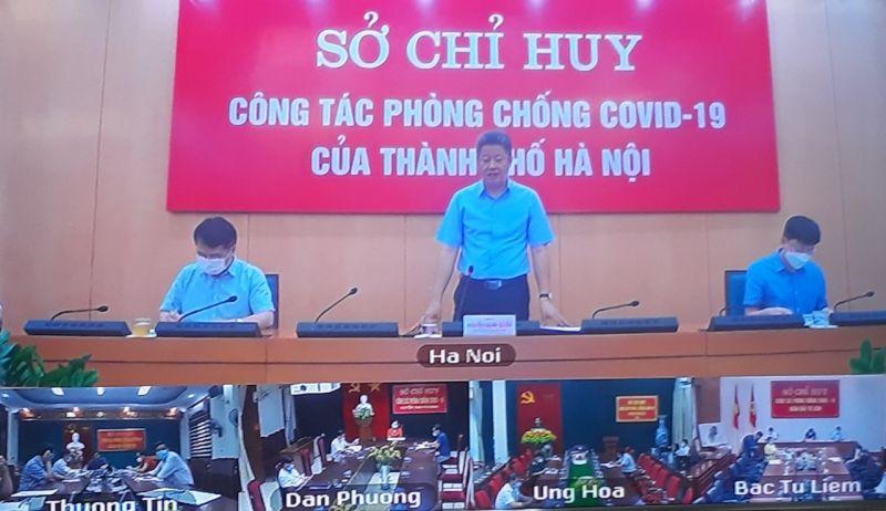Đồng chí Nguyễn Mạnh Quyền, Phó Chủ tịch UBND Thành phố chỉ đạo tại Hội nghị