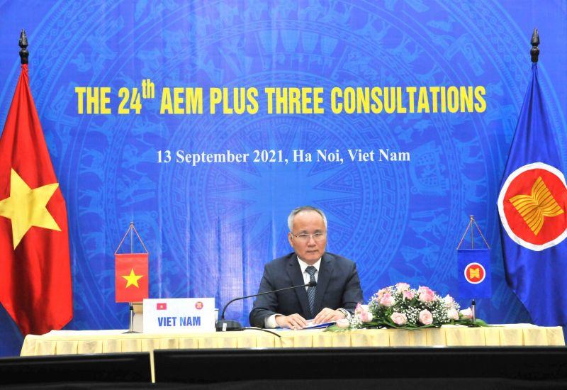 Thứ trưởng Bộ Công Thương Trần Quốc Khánh tại hội nghị đầu cầu Hà Nội