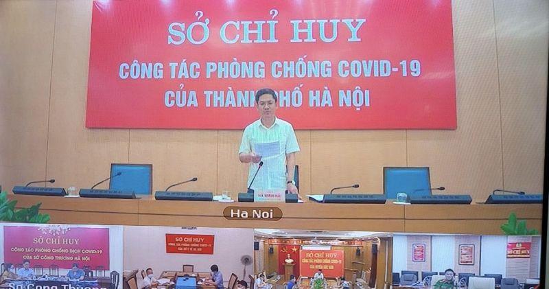 Phó Chủ tịch UBND TP Hà Minh Hải tại cuộc họp chiều ngày 13/9