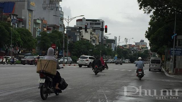 Mật độ giao thông khá cao mặc dù đang trong thời gian giãn cách.