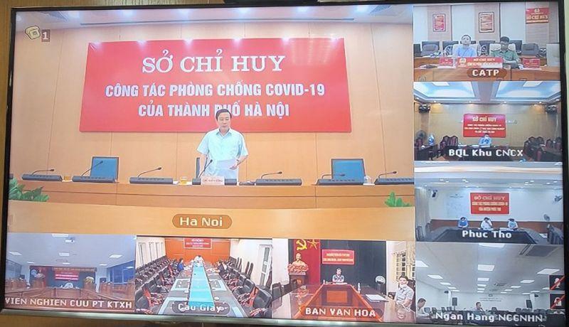 Đồng chí Chử Xuân Dũng - Phó Chủ tịch UBND TP Hà Nội phát biểu chỉ đạo tại cuộc họp
