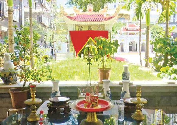 Khu mộ thờ công chúa Lê Thị Ngọc Bôi ở đền Văn Quán hay còn gọi là đền Độc Cước