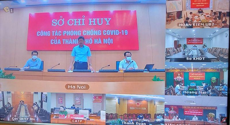 Phó Chủ tịch Ủy ban nhân dân (UBND) Thành phố, Phó Chỉ huy trưởng Sở Chỉ huy phòng, chống Covid-19 thành phố Hà Nội Nguyễn Mạnh Quyền nhấn mạnh tại cuộc họp