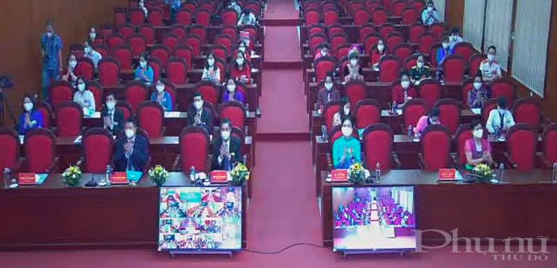 Các đại biểu tham dự Đại hội tại điểm cầu Trung tâm