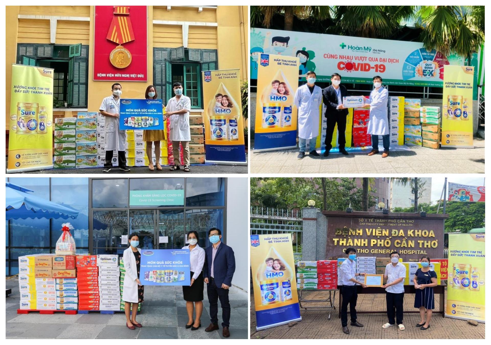 """Chuỗi hoạt động được Vinamilk triển khai trên cả nước với thông điệp """"Tuyến đầu khỏe mạnh, Việt Nam khỏe mạnh"""""""