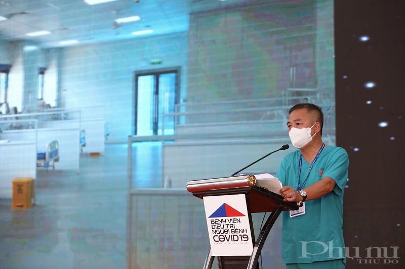 PGS.TS Nguyễn Lân Hiếu - Giám đốc BV Đại học Y Hà Nội phát biểu tại Lễ Khánh thành BV