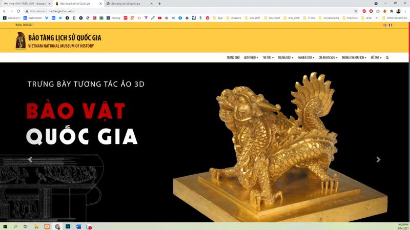 Trưng bày ảo 3D chuyên đề Bảo vật quốc gia trong trang Website của BTLSQG