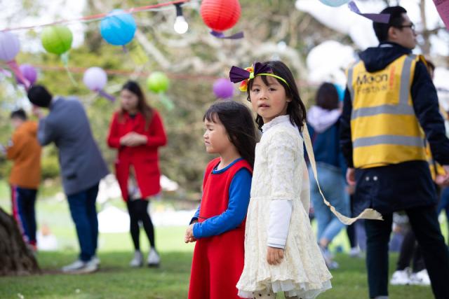 Khách tham quan tại Lễ hội Trung thu năm ngoái ở Balmoral, Auckland.