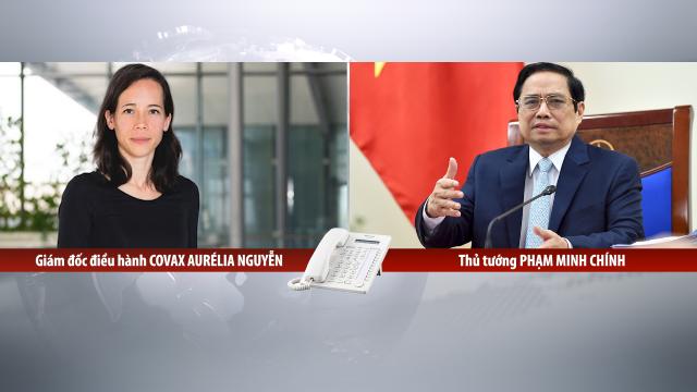 Họp trực tuyến với bà Aurélia Nguyen, Thủ tướng đề nghị COVAX ưu tiên phân bổ vaccine cho Việt Nam càng nhanh, càng nhiều càng tốt.