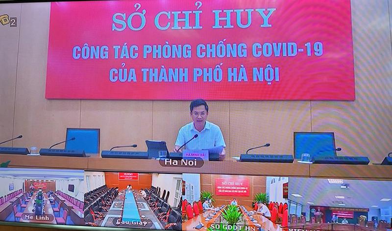 Phó Chủ tịch UBND TP Hà Minh Hải chủ trì giao ban.