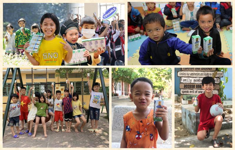 Mỗi em nhỏ có hoàn cảnh khó khăn sẽ được hỗ trợ uống sữa Vinamilk miễn phí trong 3 tháng liên tiếp nhằm tăng cường sức khỏe, hỗ trợ đề kháng.