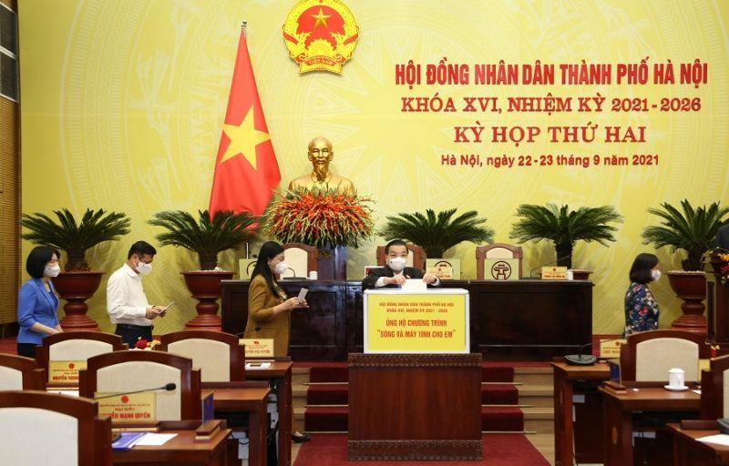 Ủy viên T.Ư Đảng, Phó Bí thư Thành ủy, Chủ tịch UBND TP Hà Nội Chu Ngọc Anh ủng hộ Chương trình