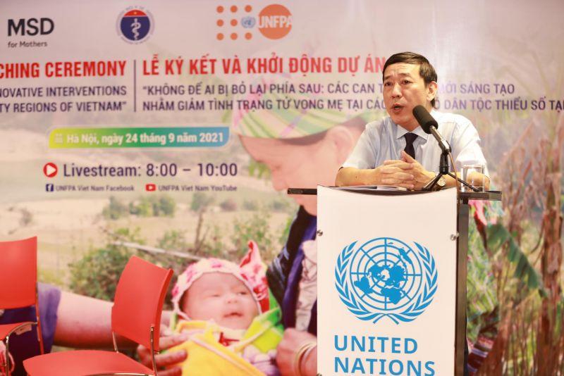 Ông Nguyễn Đức Vinh, Vụ trưởng Vụ Chăm sóc Sức khỏe Bà mẹ Trẻ em, Bộ Y tế khẳng định sự ủng hộ của Bộ Y tế đối với dự án