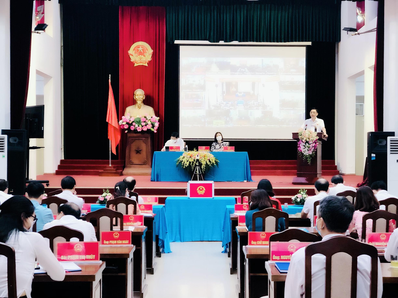 Toàn cảnh cuộc họp Hội đồng nhân dân huyện Thanh Trì lần thứ hai