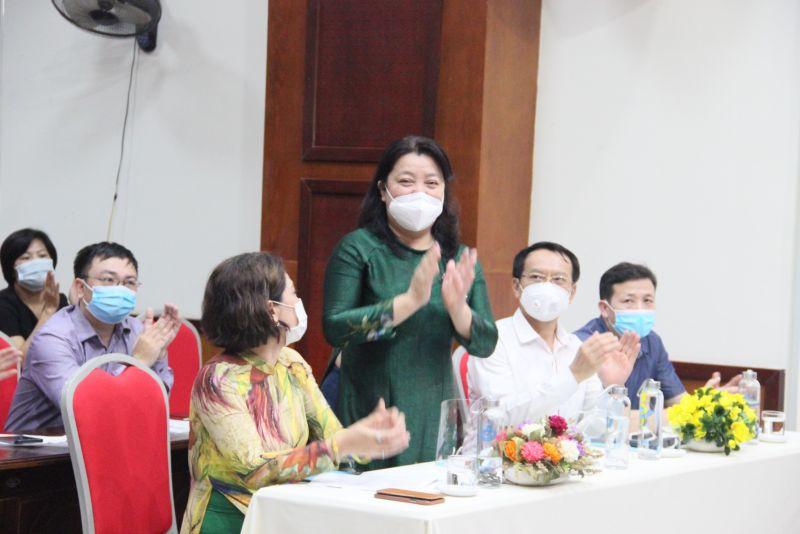 Đồng chí Nguyễn Thị Thu Thuỷ, Phó Chủ tịch Thường trực, Hội LHPN TP Hà Nội làm Trưởng ban Tổ chức Cuộc thi viết